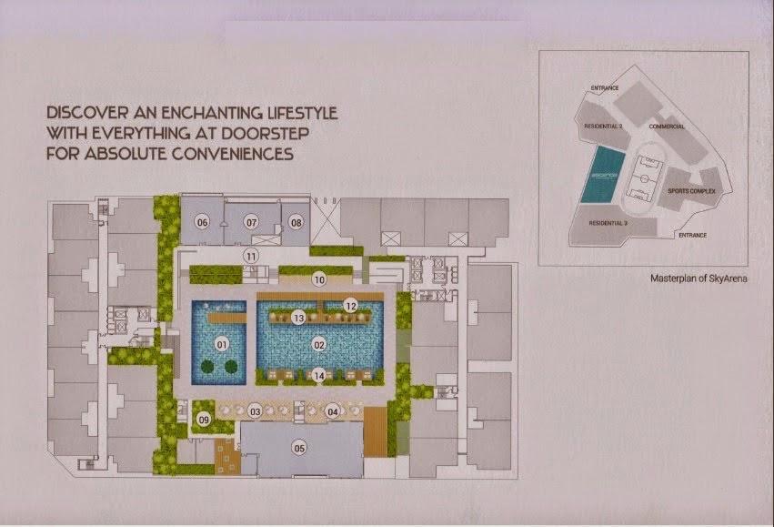 Site Plan of Ascenda Residence @ SkyArena
