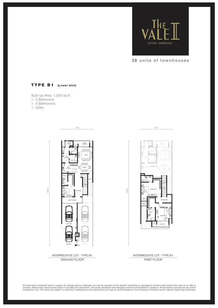 The Vale II @ Sutera Damansara Type B1 Floor Plan