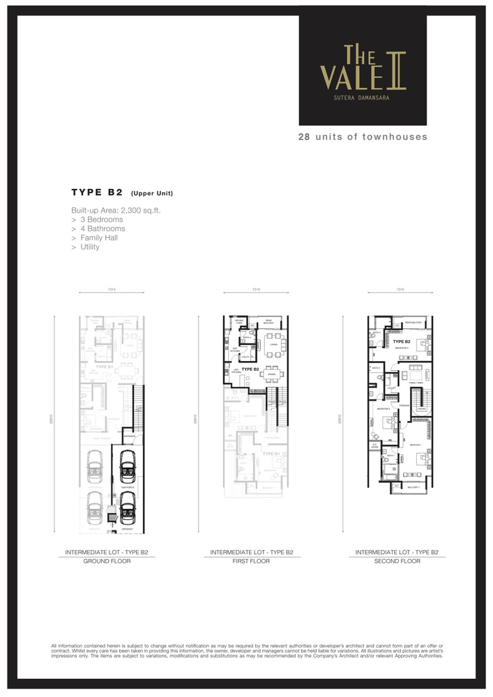 The Vale II @ Sutera Damansara Type B2 Floor Plan
