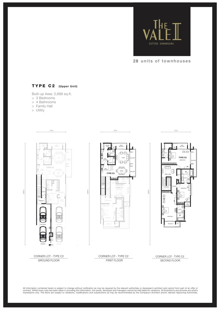 The Vale II @ Sutera Damansara Type C2 Floor Plan