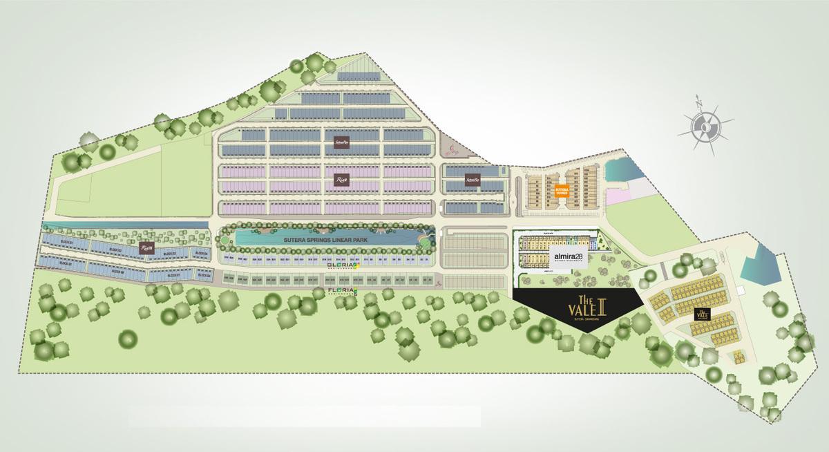 Master Plan of The Vale II @ Sutera Damansara