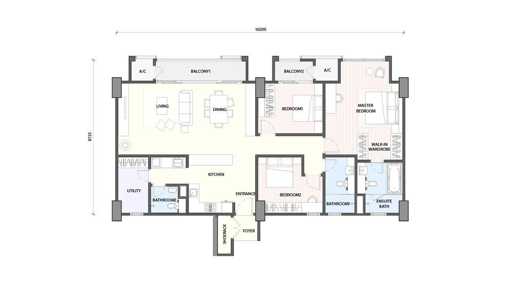 Radia Residences Type 5A1 Floor Plan