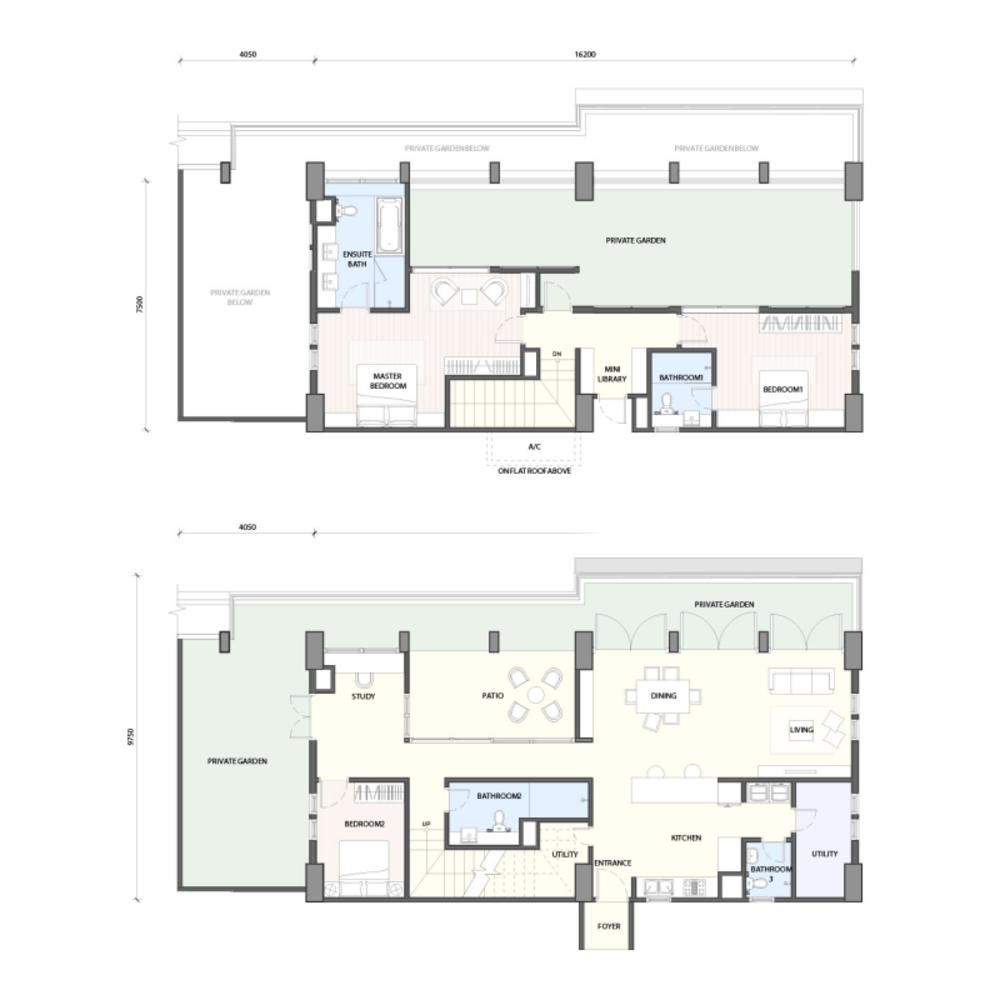Radia Residences Type 6A2 (Duplex) Floor Plan