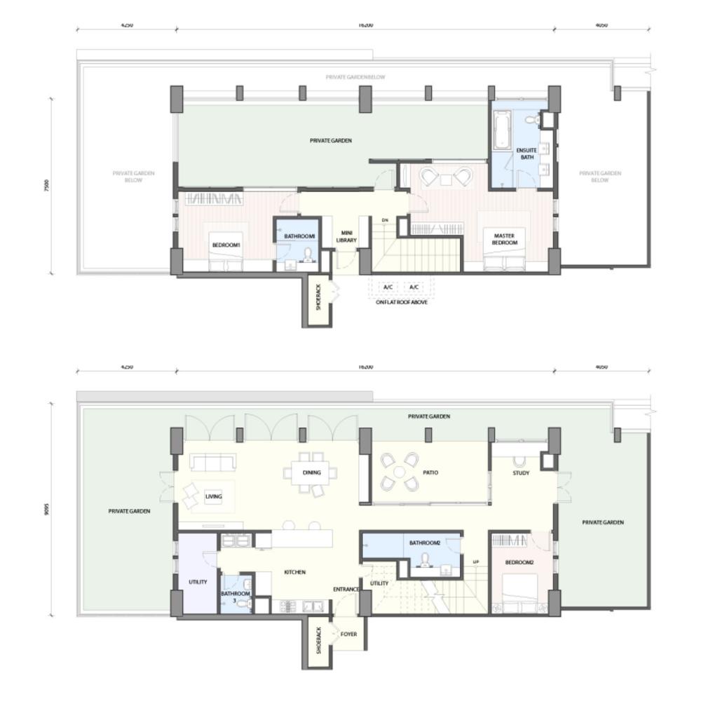 Radia Residences Type 6C1 (Duplex) Floor Plan