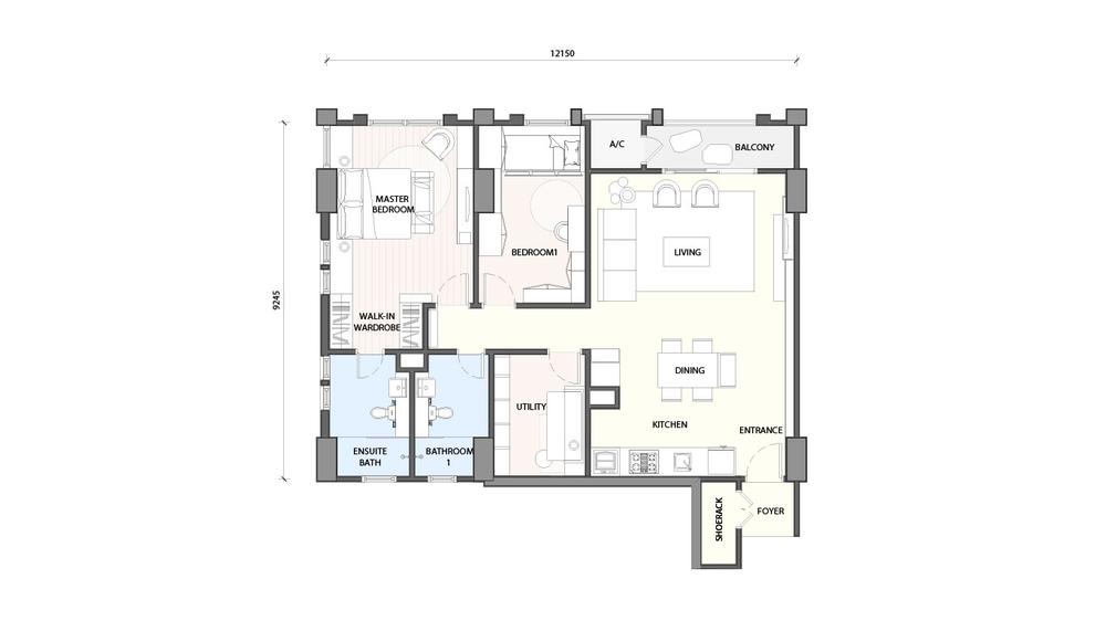 Radia Residences Type 4C2 Floor Plan