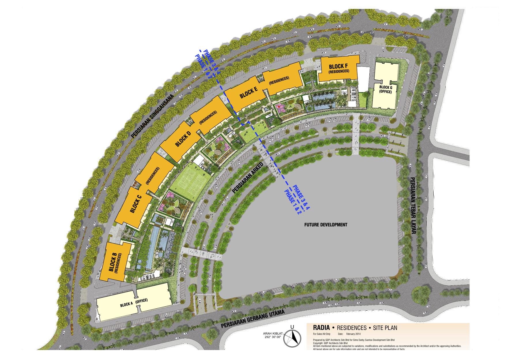 Site Plan of Radia Residences