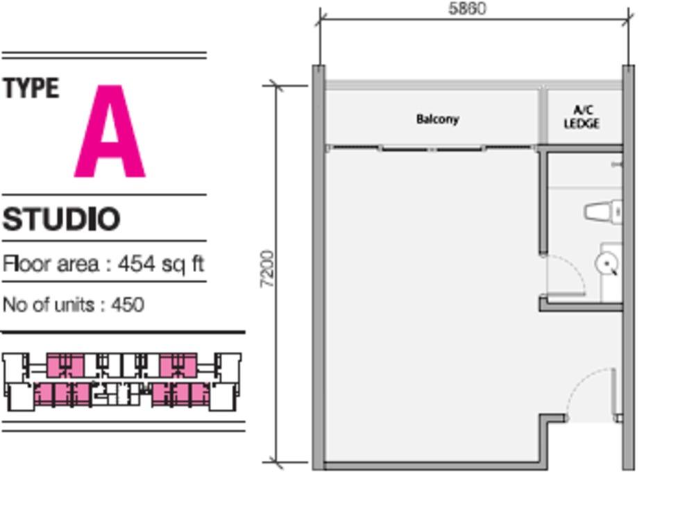 EVO Soho Suites Type A Floor Plan