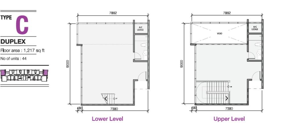 EVO Soho Suites Type C Floor Plan