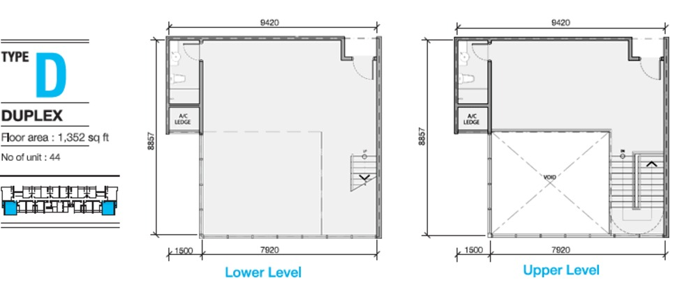 EVO Soho Suites Type D Floor Plan
