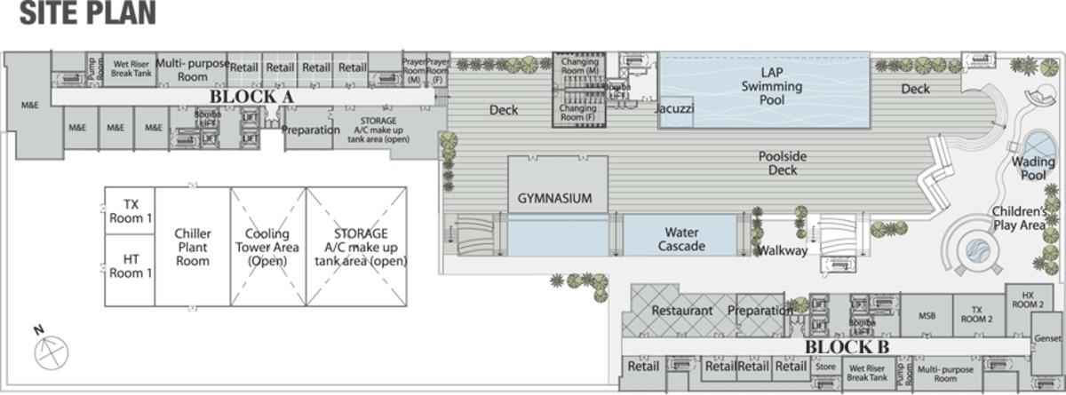 Master Plan of EVO Soho Suites