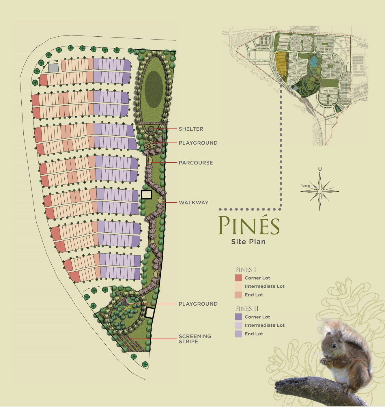 Site Plan of Pines