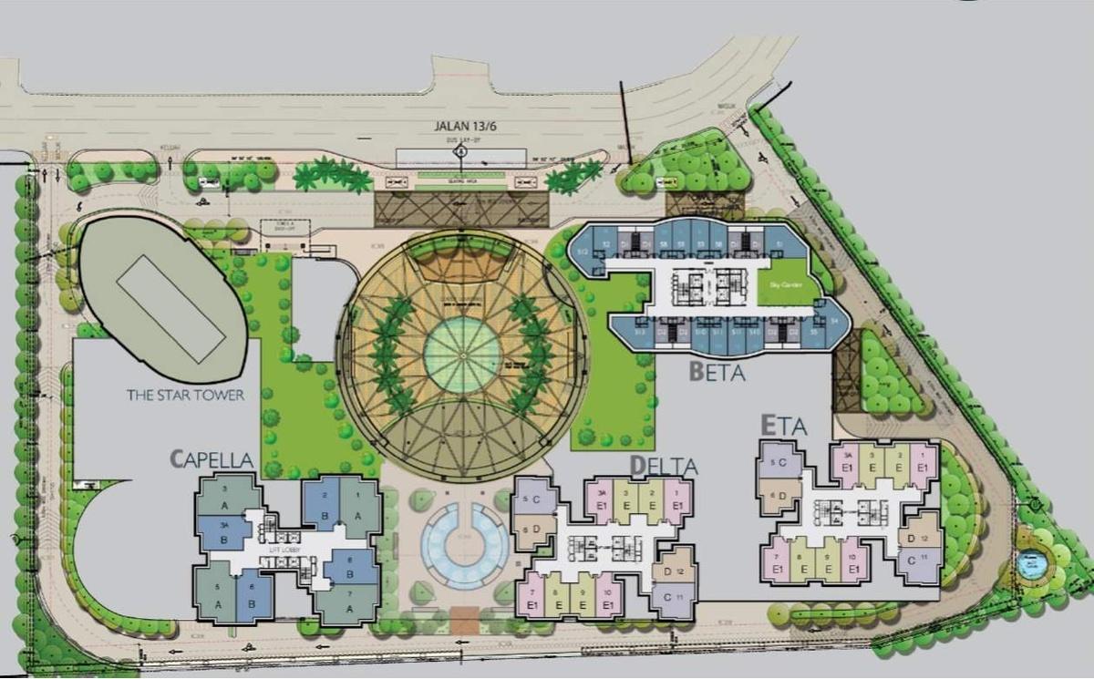 Master Plan of Capella Residenz @ Pacific Star