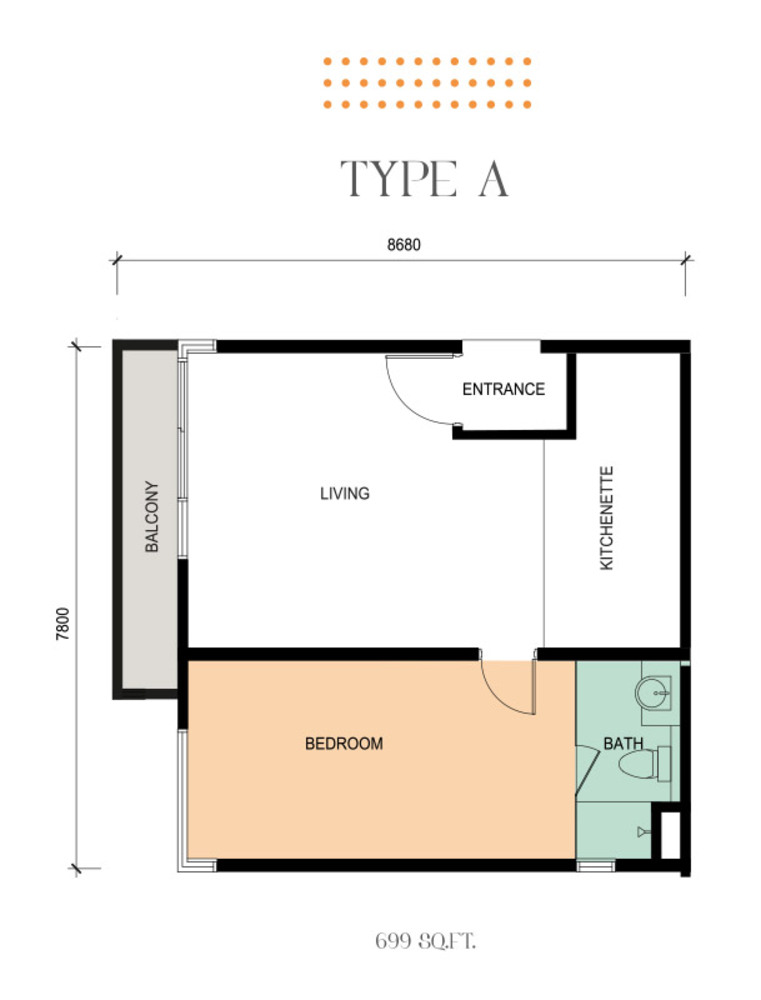 Epic Residence Type A Floor Plan