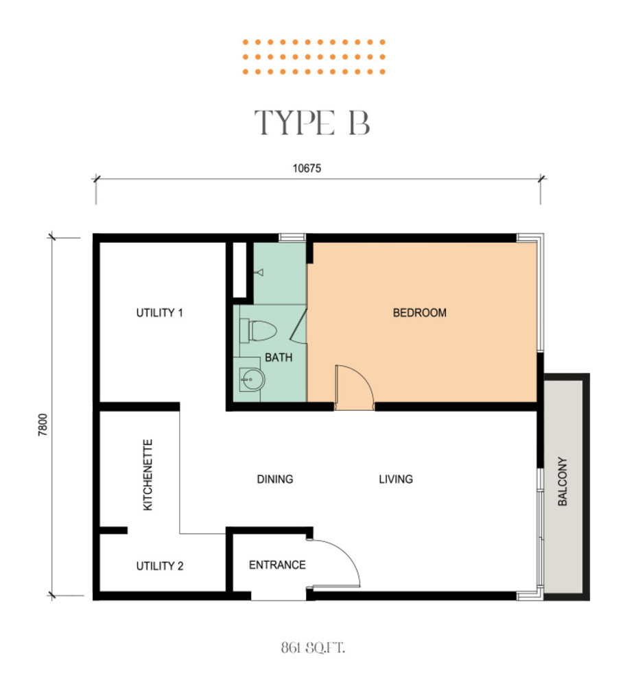 Epic Residence Type B Floor Plan