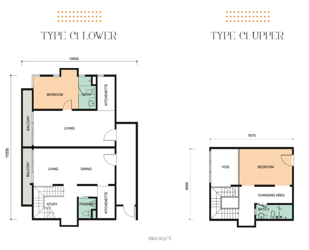 Epic Residence Type C1 Floor Plan