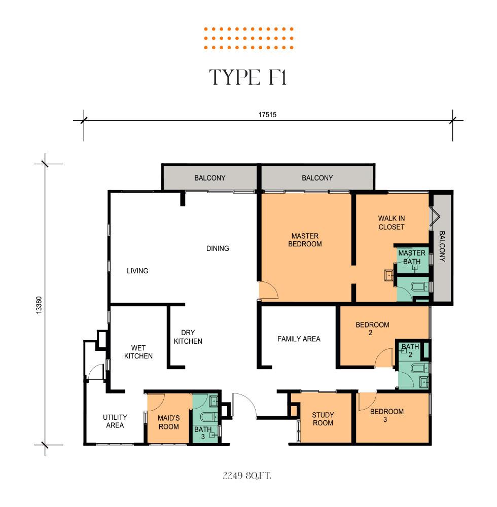 Epic Residence Type F1 Floor Plan