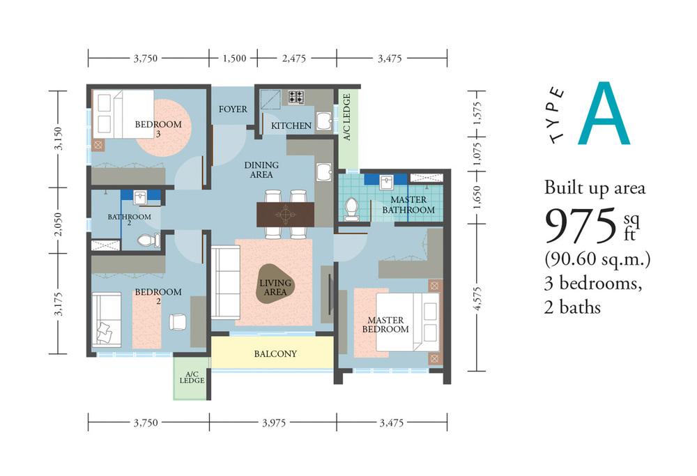 LakePark Residence @ KL North Type A Floor Plan