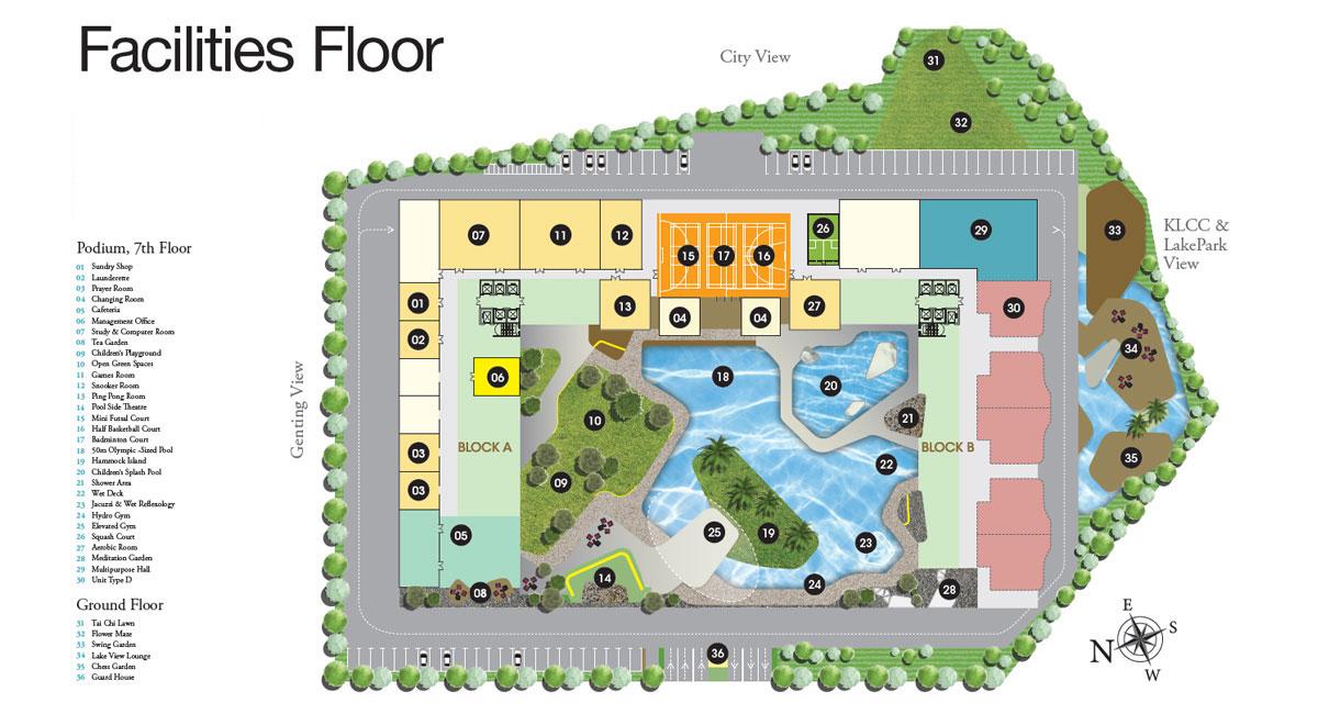 Site Plan of LakePark Residence @ KL North