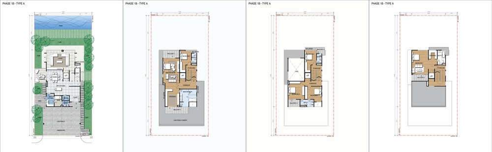 Green Beverly Hills Water Villa - Standard Unit Floor Plan