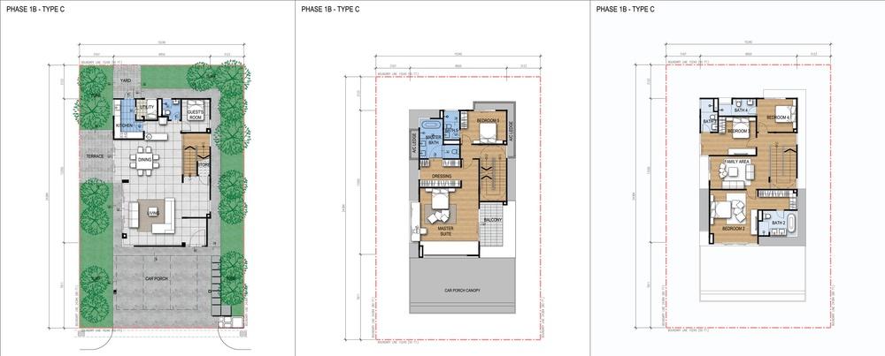 Green Beverly Hills Garden Villa - Standard Unit Floor Plan