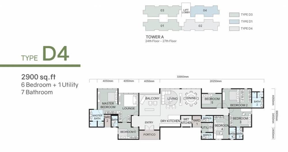 Green Beverly Hills Residensi Lili - Type D4 Floor Plan