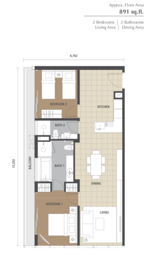 Dorsett Residences Type C Floor Plan
