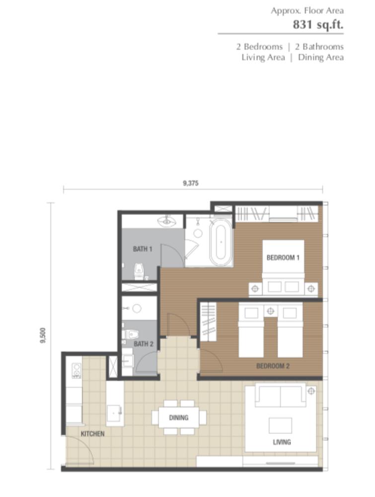 Dorsett Residences Type D Floor Plan