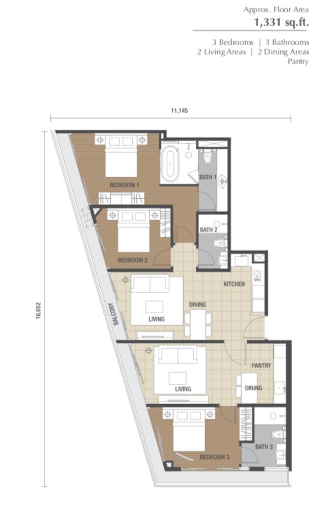 Dorsett Residences Type I Floor Plan