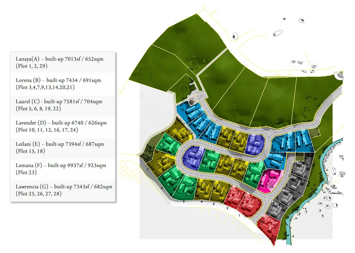 Site Plan of Botanica 4