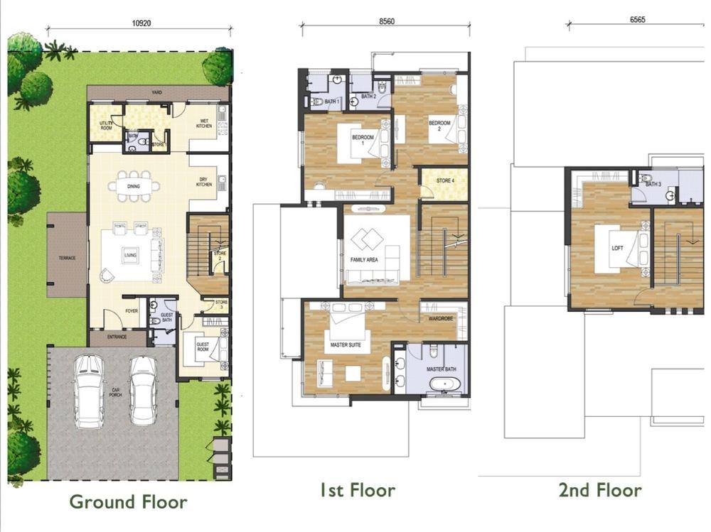 Tijani Ukay Type B Floor Plan