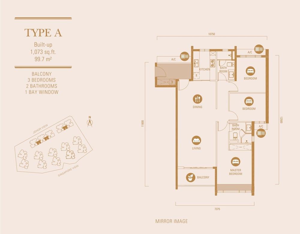 R&F Princess Cove Type A Floor Plan