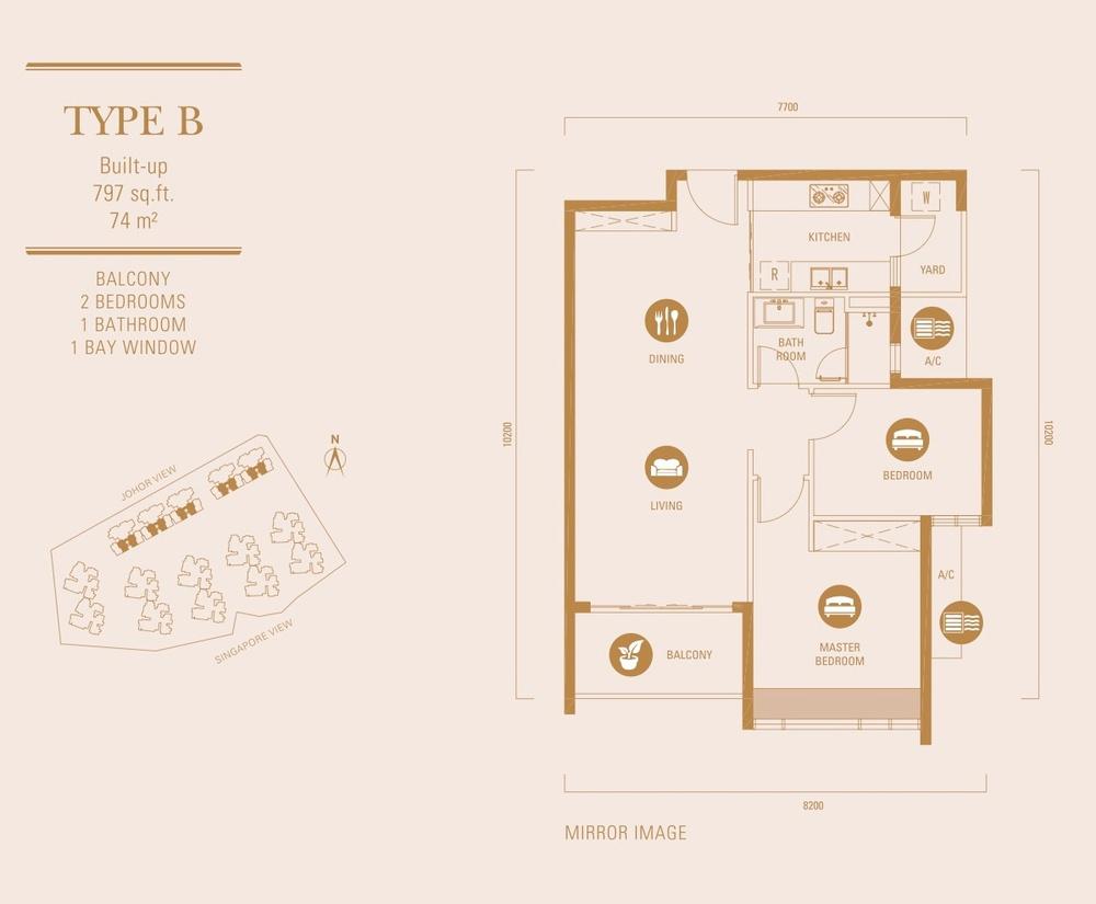 R&F Princess Cove Type B Floor Plan