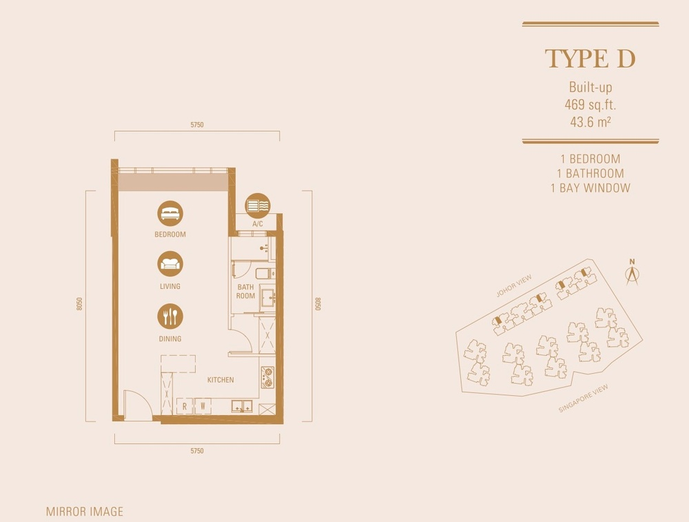 R&F Princess Cove Type D Floor Plan