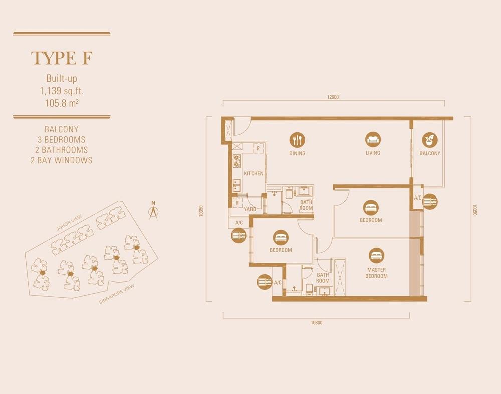 R&F Princess Cove Type F Floor Plan
