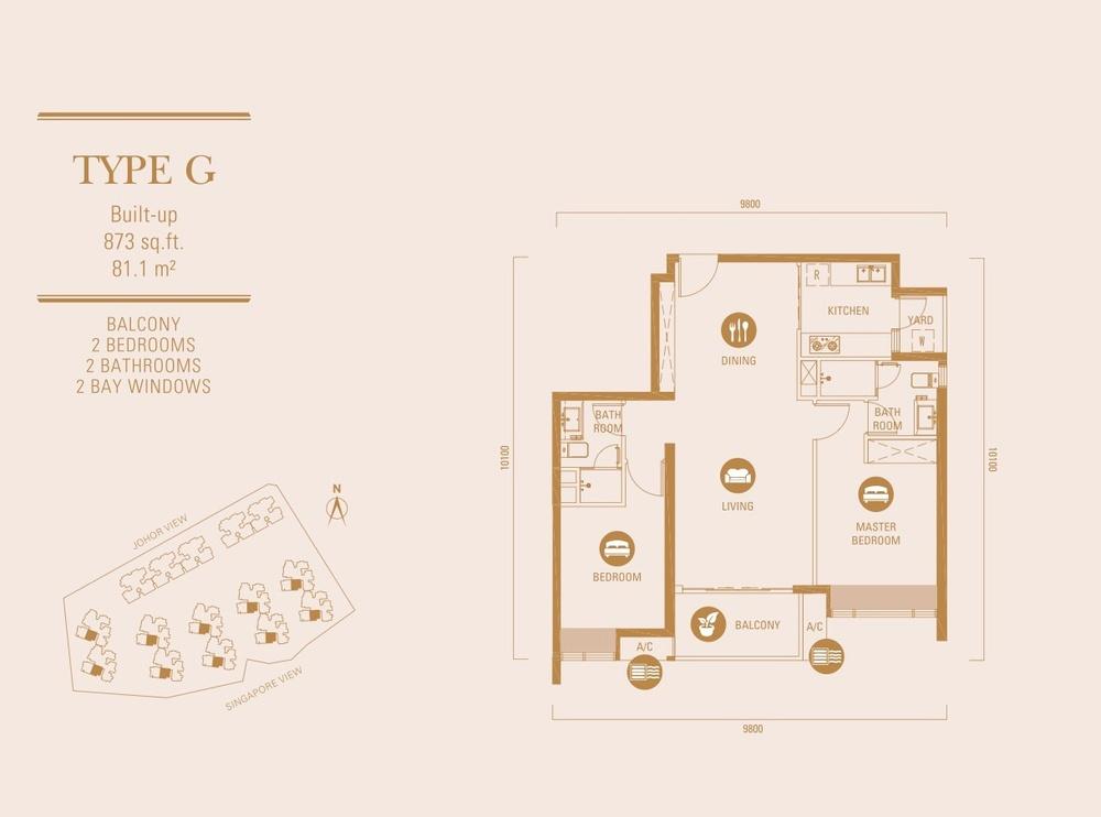R&F Princess Cove Type G Floor Plan