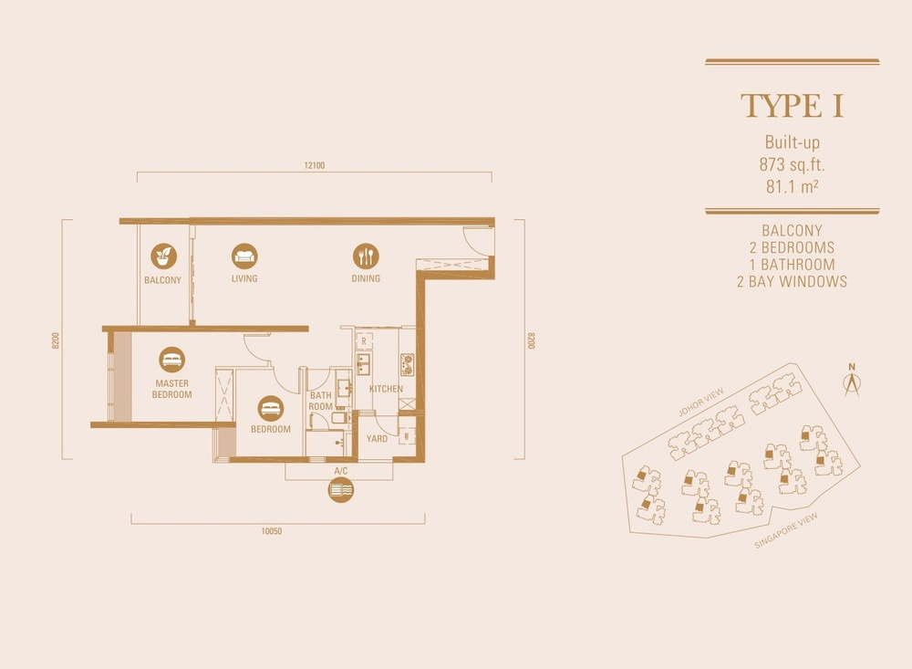 R&F Princess Cove Type I Floor Plan