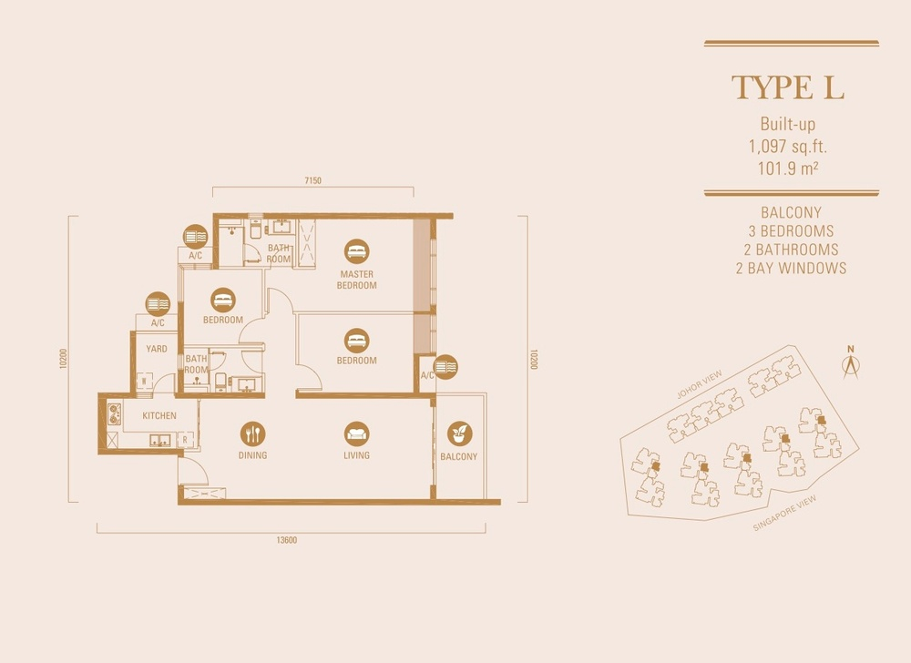 R&F Princess Cove Type L Floor Plan