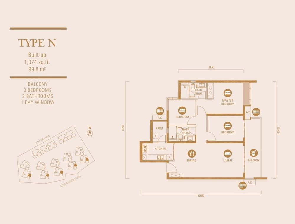 R&F Princess Cove Type N Floor Plan