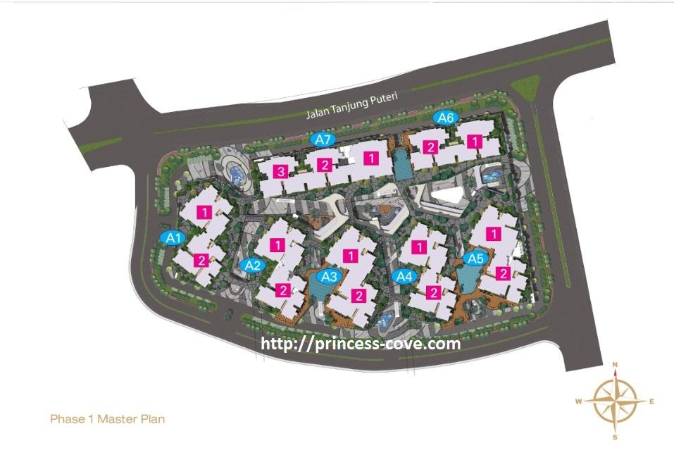 Site Plan of R&F Princess Cove