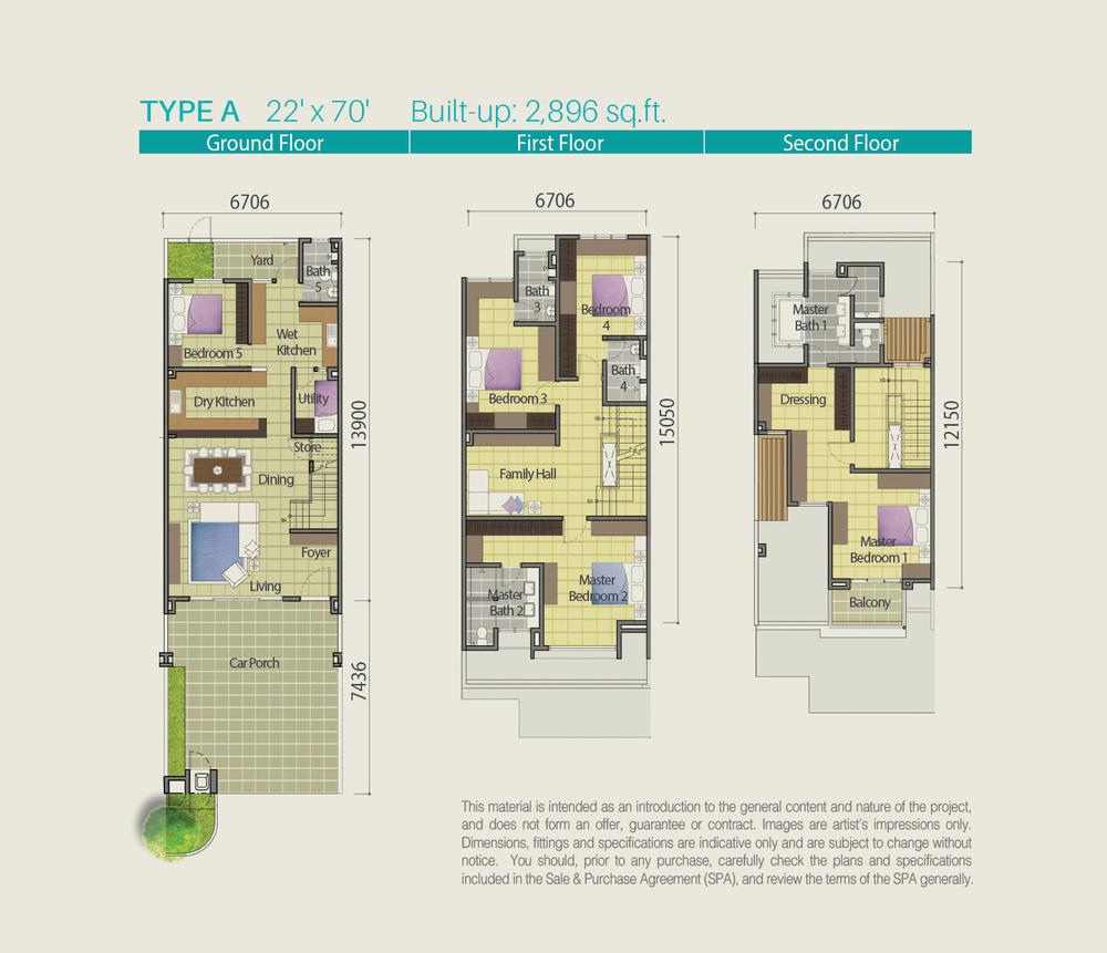Lake Point Residence Type A Floor Plan