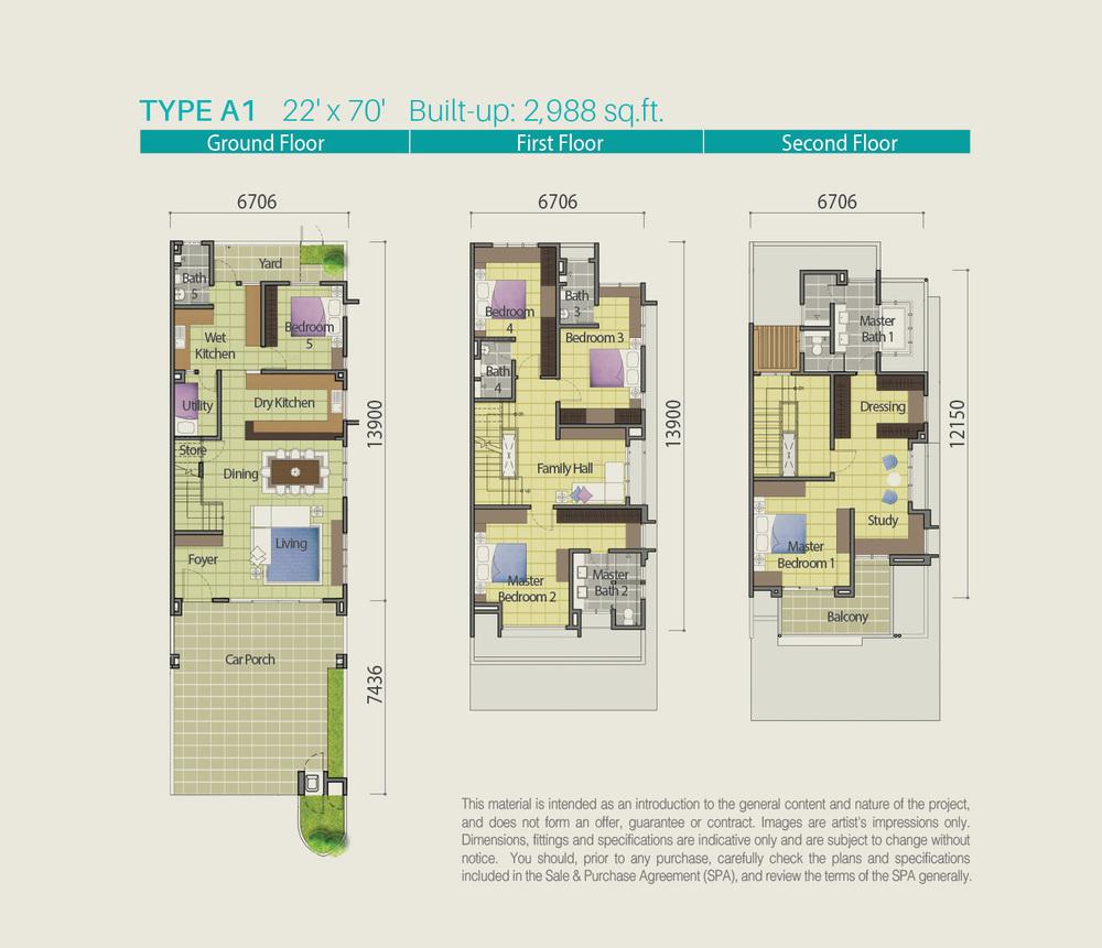 Lake Point Residence Type A1 Floor Plan