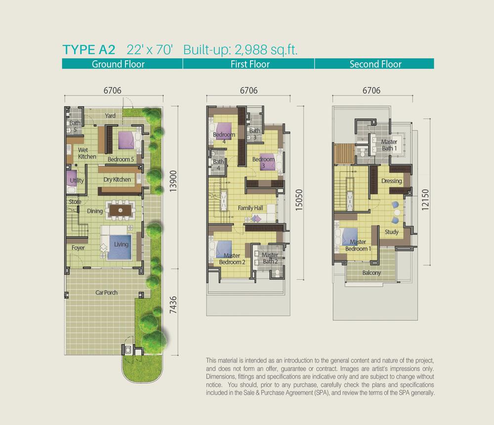 Lake Point Residence Type A2 Floor Plan