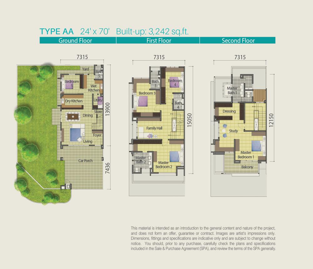 Lake Point Residence Type AA Floor Plan