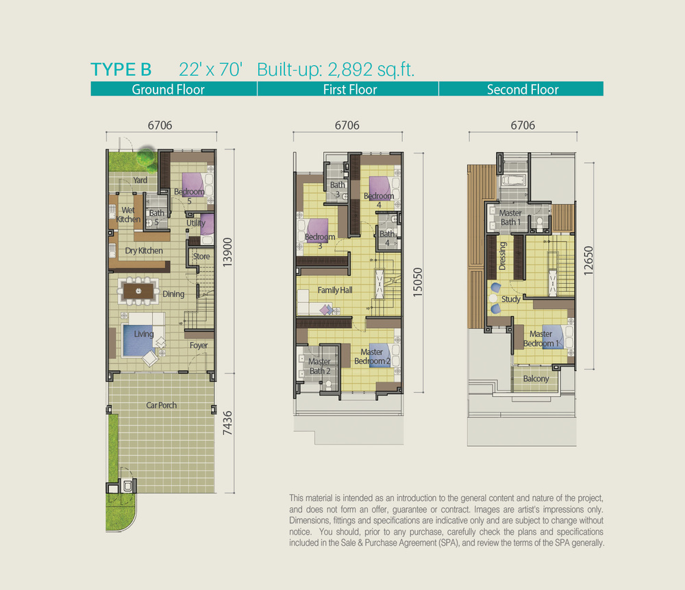 Lake Point Residence Type B Floor Plan