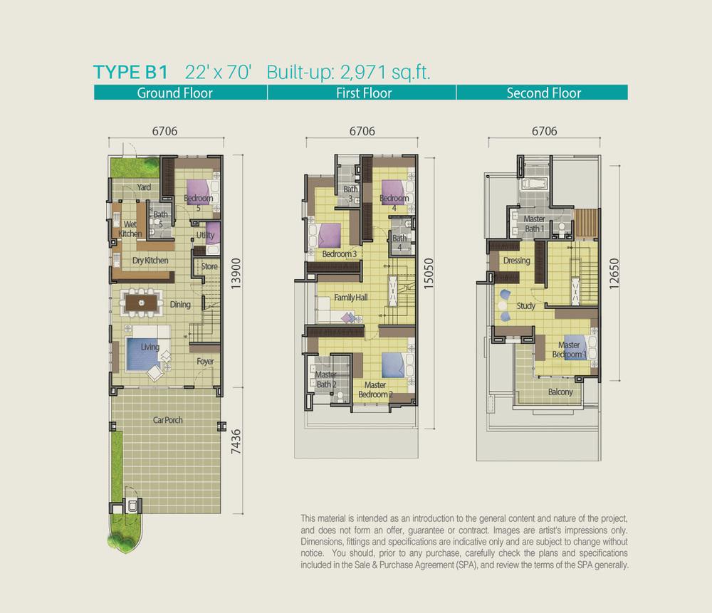 Lake Point Residence Type B1 Floor Plan