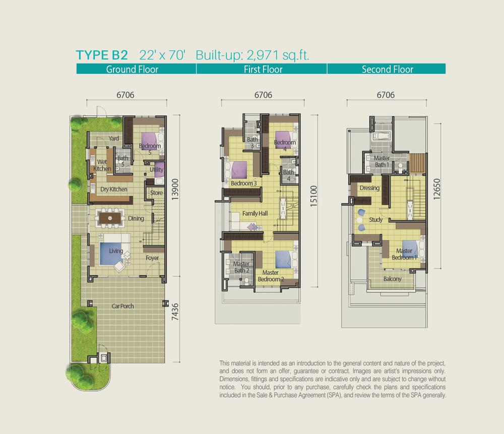 Lake Point Residence Type B2 Floor Plan
