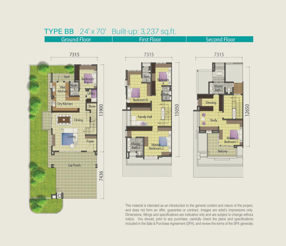 Lake Point Residence Type BB Floor Plan