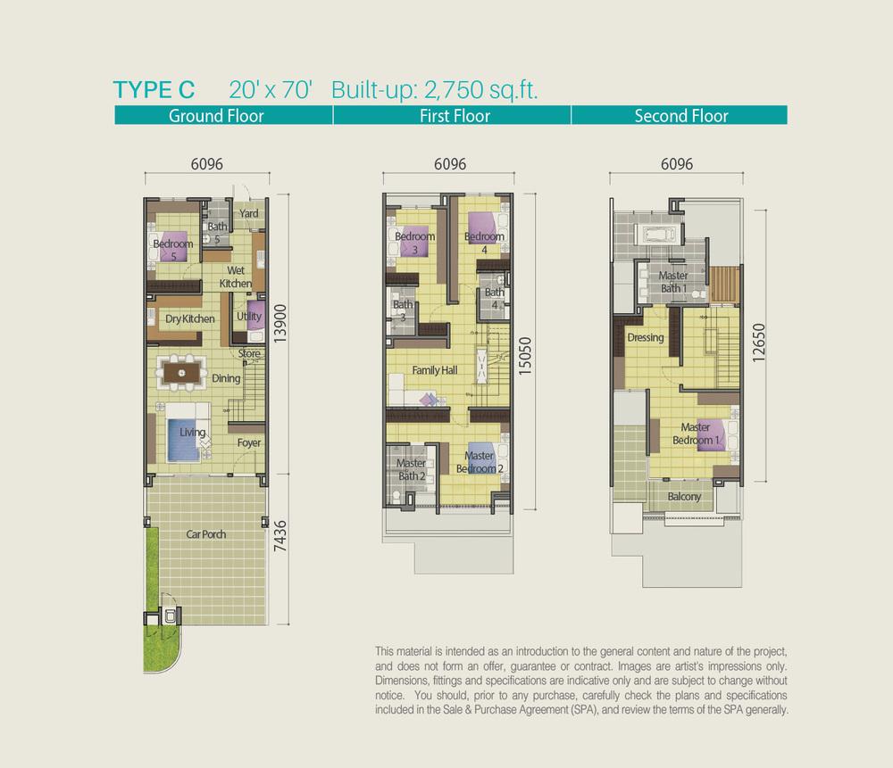 Lake Point Residence Type C Floor Plan