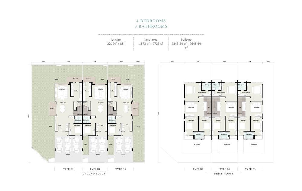 Arahsia Type D1/D2/D3 Floor Plan