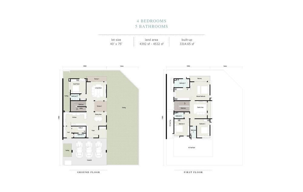 Arahsia Type F Floor Plan